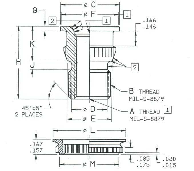 Item # RF9512-6, RF9500-6 - Insert - Fluid Connection Boss