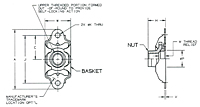F1967 - Anchor Nut Self Aligning, Two-Lug, Floating
