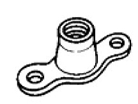 Simloc Nut - Miniature Anchor - Two Lug – 900 Mpa/235°C – Coated - Lubricated