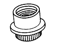 Nut- Clinch Flush Mounting , Miniature , 450°F
