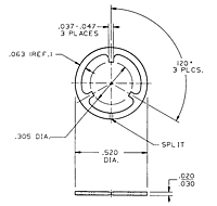 CA1786 Series Retaining Rings