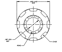 LiveLock™ CA18377 Series - Retaining Rings, Wire Form Caged Type