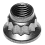 H23 Reduced Wrenchable Twelve Point Nut - 220000 PSI